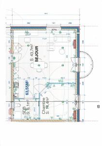 Plan appart 64m2